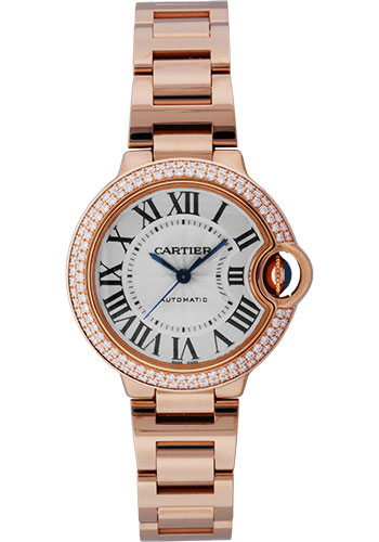 Cartier Watches - Ballon Bleu Pink Gold With Diamonds - Style No: WE902034