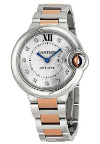 Cartier Watches - Ballon Bleu 33mm - Steel and Pink Gold - Style No: WE902061
