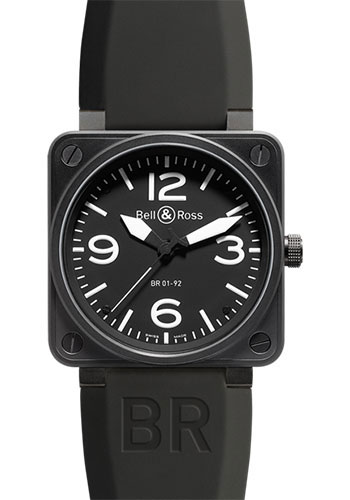 Bell & Ross Watches - BR 01-92 Automatic Carbon - Style No: BR 01-92 Carbon Black
