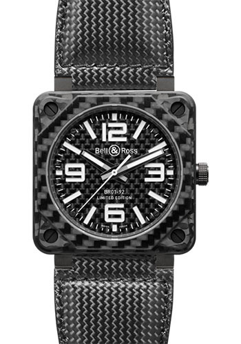 Bell & Ross Watches - BR 01-92 Automatic Carbon Fiber - Style No: BR 01-92 Carbon Fiber