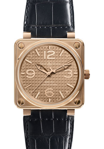 Bell & Ross Watches - BR 01-92 Automatic Gold Ingot - Style No: BR 01-92 Ingot Rose Gold