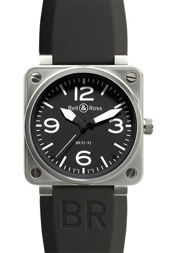 Bell & Ross Watches - BR 01-92 Automatic Steel - Style No: BR 01-92 Steel Black