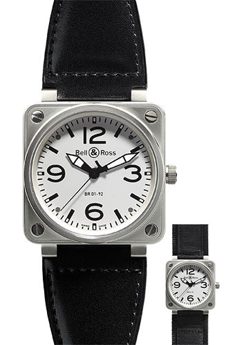 Bell & Ross Watches - BR 01-92 Automatic Steel - Style No: BR 01-92 Steel White