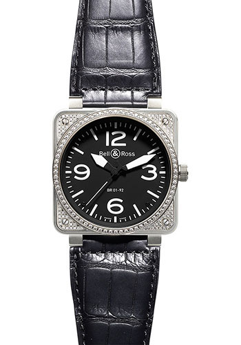Bell & Ross Watches - BR 01-92 Automatic Diamonds - Style No: BR 01-92 Top Diams Black
