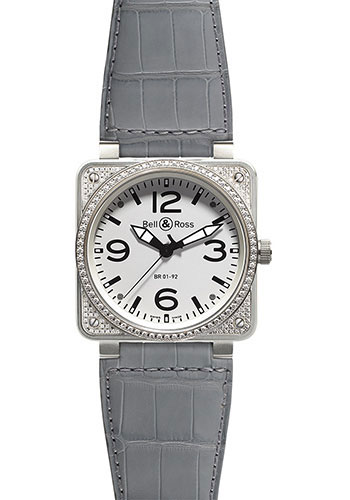 Bell & Ross Watches - BR 01-92 Automatic Diamonds - Style No: BR 01-92 Top Diams White