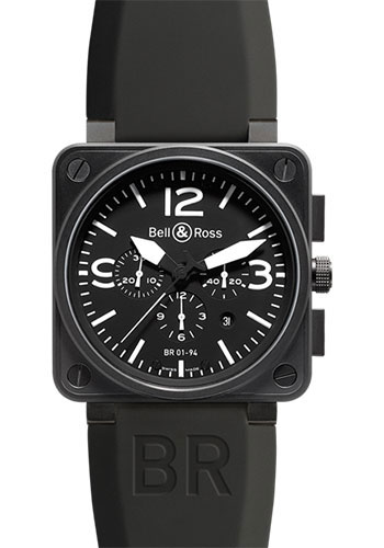 Bell & Ross Watches - BR 01-94 Chronograph Carbon - Style No: BR 01-94 Carbon Black
