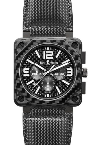 Bell & Ross Watches - BR 01-94 Chronograph Carbon Fiber - Style No: BR 01-94 Carbon Fiber