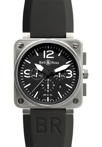 Bell & Ross Watches - BR 01-94 Chronograph Steel - Style No: BR 01-94 Steel Black