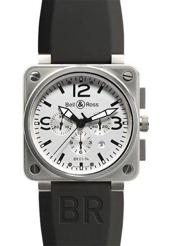 Bell & Ross Watches - BR 01-94 Chronograph Steel - Style No: BR 01-94 Steel White