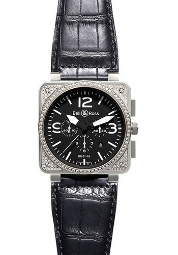 Bell & Ross Watches - BR 01-94 Chronograph Diamonds - Style No: BR 01-94 Top Diams Black