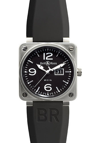 Bell & Ross Watches - BR 01-96 Automatic Big Date Steel - Style No: BR 01-96 Steel Black