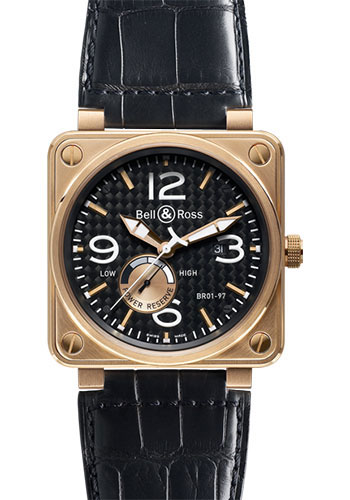 Bell & Ross Watches - BR 01-97 Power Reserve Gold - Style No: BR 01-97 Rose Gold