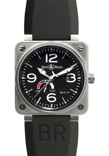 Bell & Ross Watches - BR 01-97 Power Reserve Steel - Style No: BR 01-97 Steel Black
