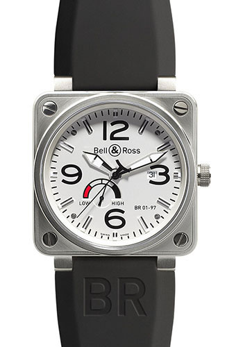 Bell & Ross Watches - BR 01-97 Power Reserve Steel - Style No: BR 01-97 Steel White