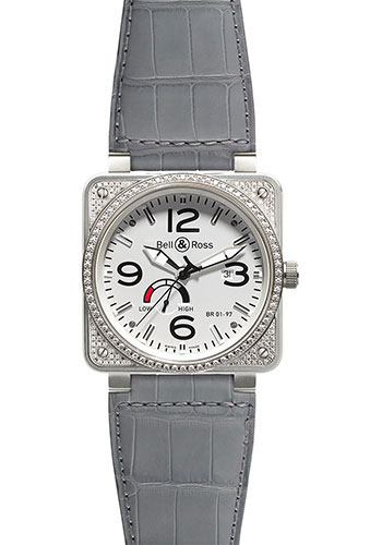 Bell & Ross Watches - BR 01-97 Power Reserve Diamonds - Style No: BR 01-97 Top Diams White