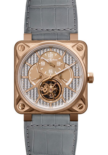Bell & Ross Watches - BR 01 Tourbillon Gold - Style No: BR 01 Tourbillon Aluminum Fiber Rose Gold