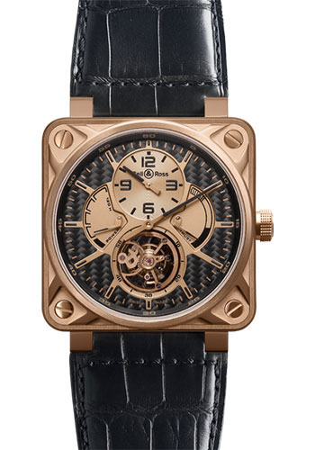 Bell & Ross Watches - BR 01 Tourbillon Gold - Style No: BR 01 Tourbillon Carbon Fiber Rose Gold