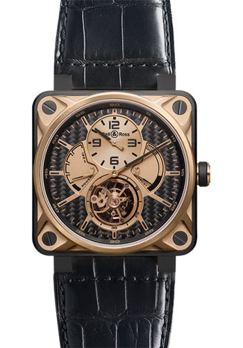 Bell & Ross Watches - BR 01 Tourbillon Gold - Style No: BR 01 Tourbillon Rose Gold & Titanium