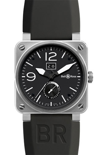 Bell & Ross Watches - BR 03-90 Big Date Power Reserve Stainless Steel - Style No: BR 03-90 Grand Date & Reserve de Marche