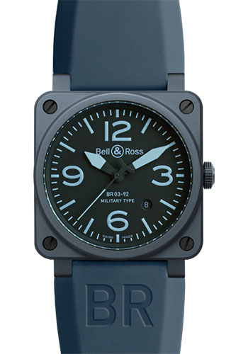 Bell & Ross Watches - BR 03-92 Automatic Blue Ceramic - Style No: BR 03-92 Blue Ceramic