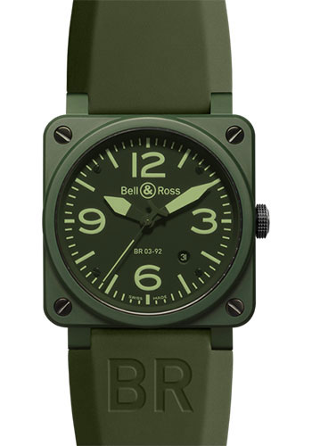 Bell & Ross Watches - BR 03-92 Automatic Military Ceramic - Style No: BR 03-92 Military Ceramic