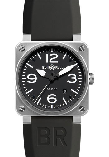 Bell & Ross Watches - BR 03-92 Automatic Steel - Style No: BR0392-BLC-ST