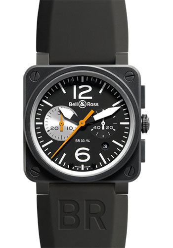 Bell & Ross Watches - BR 03-94 Chronograph Carbon - Style No: BR 03-94 Black White