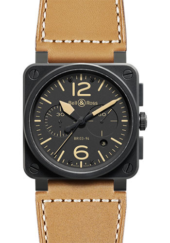 Bell & Ross Watches - BR 03-94 Chronograph Heritage - Style No: BR 03-94 Heritage