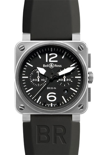 Bell & Ross Watches - BR 03-94 Chronograph Steel - Style No: BR 03-94 Steel Black