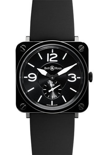 Bell & Ross Watches - BR-S Quartz Black Ceramic - Style No: BR-S Black Ceramic Rubber
