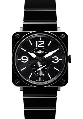 Bell & Ross Watches - BR-S Quartz Black Ceramic - Style No: BR-S Black Ceramic Ceramic Bracelet