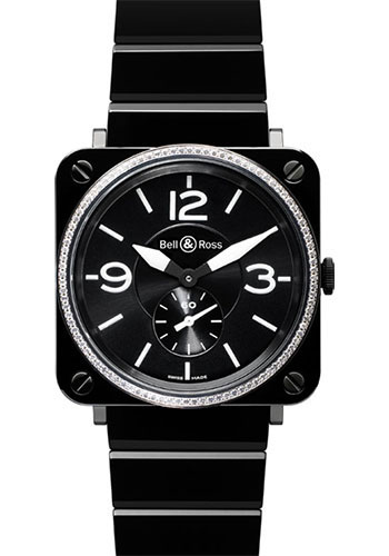 Bell & Ross Watches - BR-S Quartz Black Ceramic - Style No: BR-S Black Diamond Ceramic Ceramic Bracelet