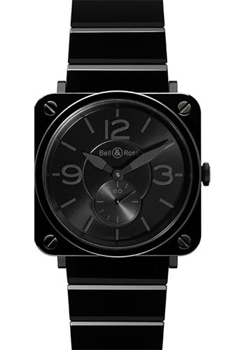 Bell & Ross Watches - BR-S Quartz Black Ceramic Phantom - Style No: BR-S Black Ceramic Phantom Ceramic Bracelet