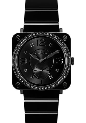 Bell & Ross Watches - BR-S Quartz Black Ceramic Phantom - Style No: BR-S Black Ceramic Phantom Diamond Ceramic Bracelet