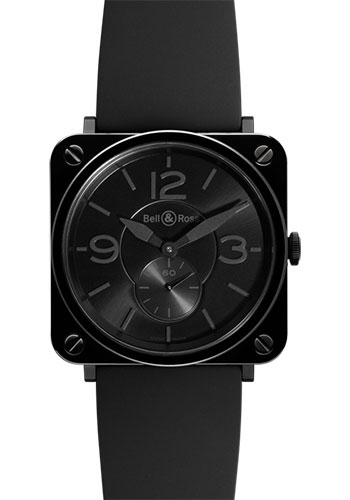 Bell & Ross Watches - BR-S Quartz Black Ceramic Phantom - Style No: BR-S Black Ceramic Phantom Rubber