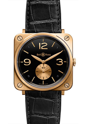 Bell & Ross Watches - BR-S Mechanical Gold - Style No: BR-S Black Rose Gold
