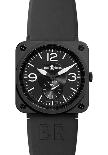 Bell & Ross Watches - BR-S Quartz Black Ceramic - Style No: BR-S Black Matte