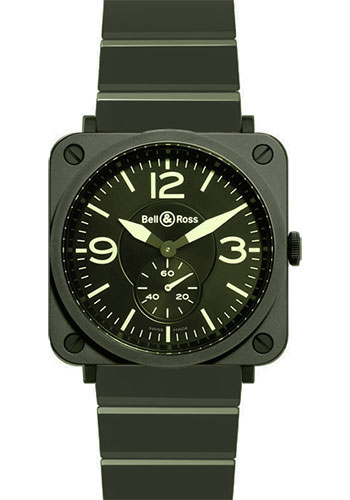 Bell & Ross Watches - BR-S Quartz Military Ceramic - Style No: BR-S Military Ceramic Ceramic