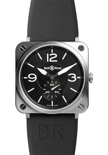 Bell & Ross Watches - BR-S Quartz Steel - Style No: BRS-BLC-ST