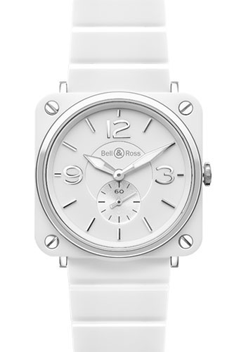 Bell & Ross Watches - BR-S Quartz White Ceramic - Style No: BR-S White Ceramic Ceramic Bracelet