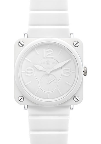 Bell & Ross Watches - BR-S Quartz White Ceramic Phantom - Style No: BR-S White Ceramic Phantom Ceramic Bracelet