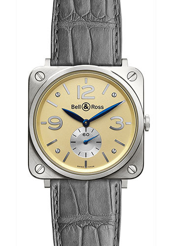 Bell & Ross Watches - BR-S Mechanical Gold - Style No: BR-S Ivory White Gold