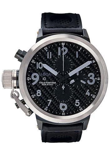 U-Boat Watches - Flightdeck 43 Black and Stainless Steel - Style No: 1840