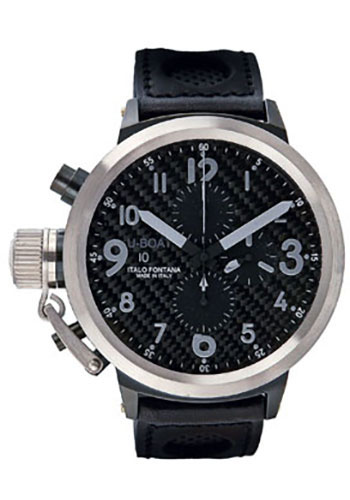 U-Boat Watches - Flightdeck 50 Black and Stainless Steel - Style No: 1845