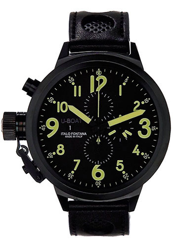 U-Boat Watches - Flightdeck Z 50 Black Steel Chronograph - Style No: 1906