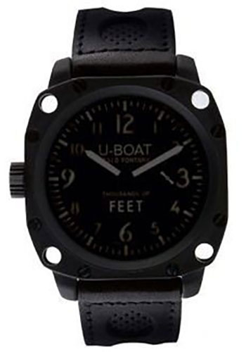 U-Boat Watches - Thousands Of Feet 50 Black Steel Brushed - Style No: 1914