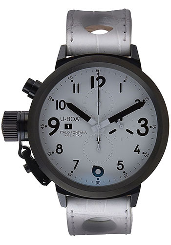 U-Boat Watches - Flightdeck 43 Black Steel Chronograph - Style No: 1931