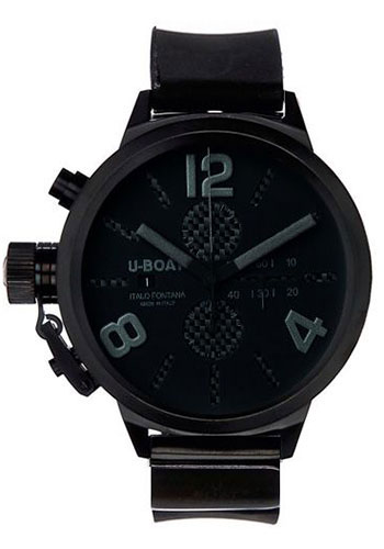 U-Boat Watches - Classico 45 Black Steel Chronograph - Style No: 2278