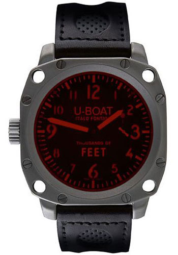 U-Boat Watches - Thousands Of Feet 50 Stainless Steel Matt - Style No: 5325
