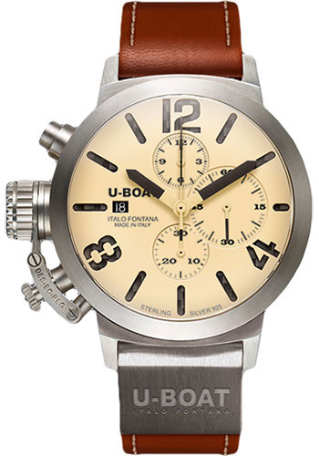 U-Boat Watches - Classico 48 Chrono Sterling Silver 925 - Style No: 6918